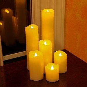Lily's home Flameless Wax LED Candle set